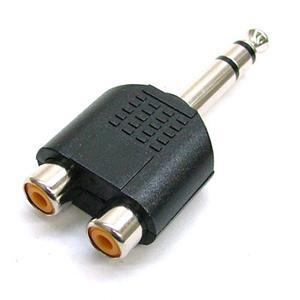 Преходник 6,3mm stereo jack m / 2 RCA f